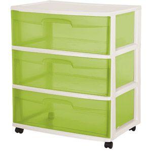 Sterilite 3 Drawer Wide Cart For Crafts Sterilite Drawers Storage