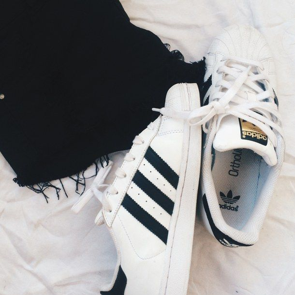 adidas, black, clothes, cool, fashion, sport, style, superstar,