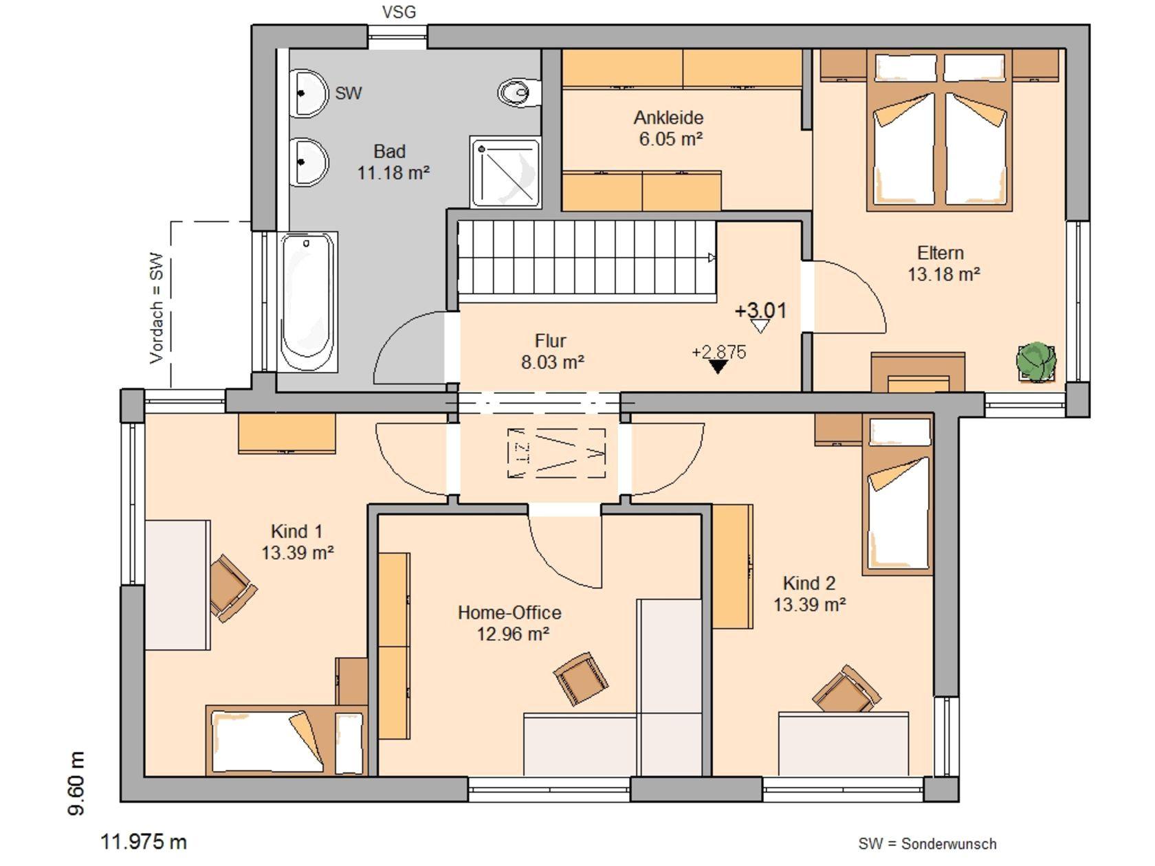 Kleines Modernes Haus Grundriss Mit Kern Futura