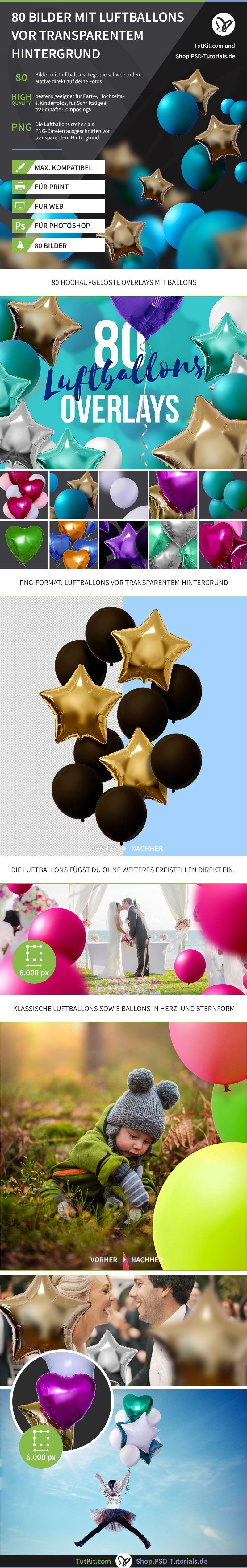 80 bilder mit bunten luftballons vor transparentem