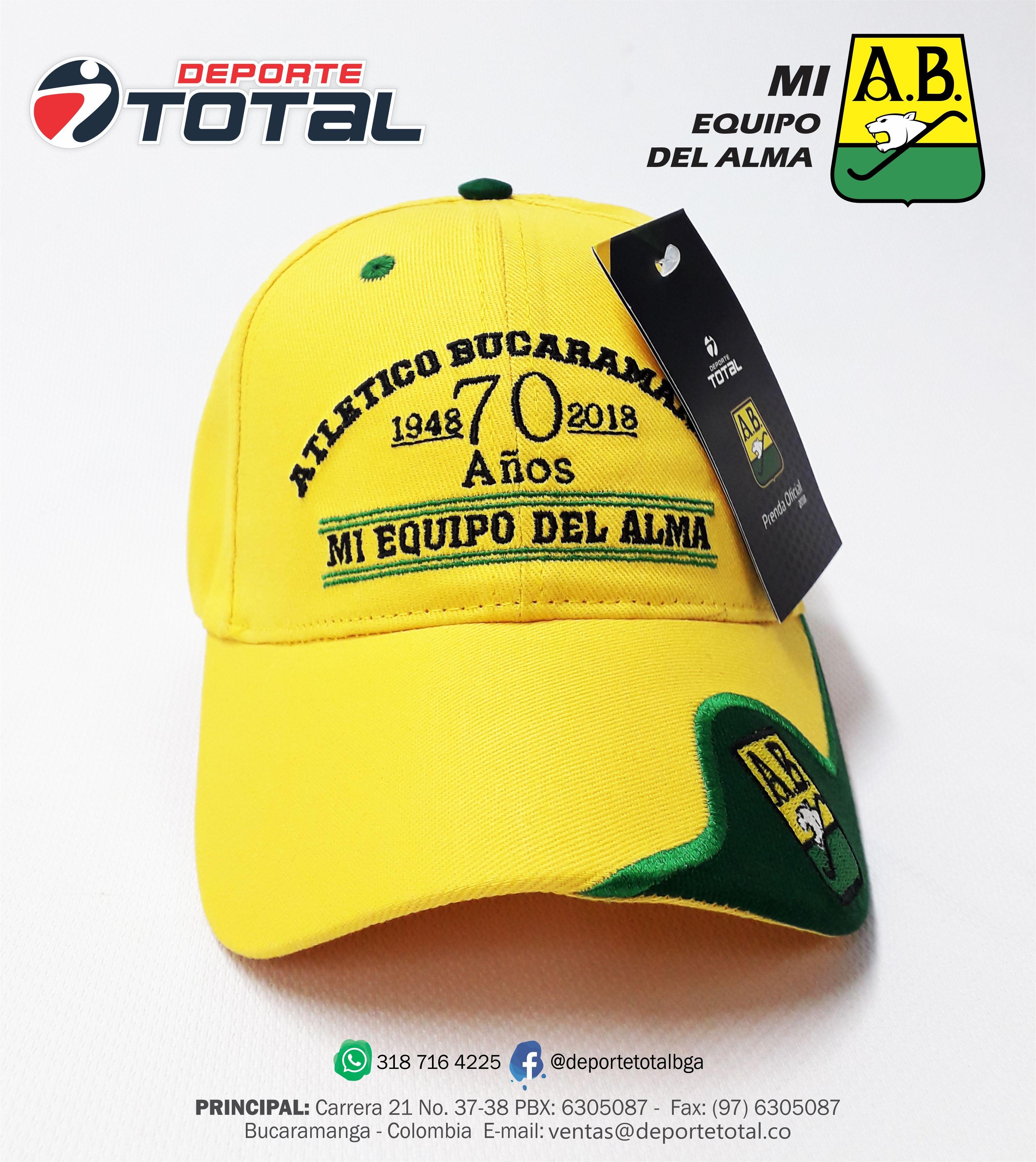 Gorra Oficial Ab Deporte Total Mi Equipo Del Alma Atletico Bucaramanga Deportes Articulos Deportivos Atleta