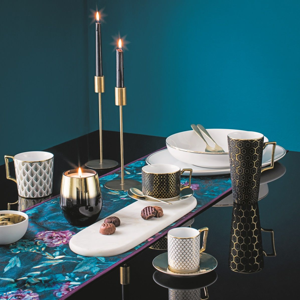 Stunning Aw17 Homeware Collection From Tesco Christmas Table Decorations Dining Area Decor Christmas Table