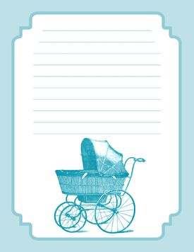 These Free Printable Baby Shower Invitations Feature A Victorian  Perambulator Baby Carriage Illustration And Are Available In A Pink And  Blue Version.