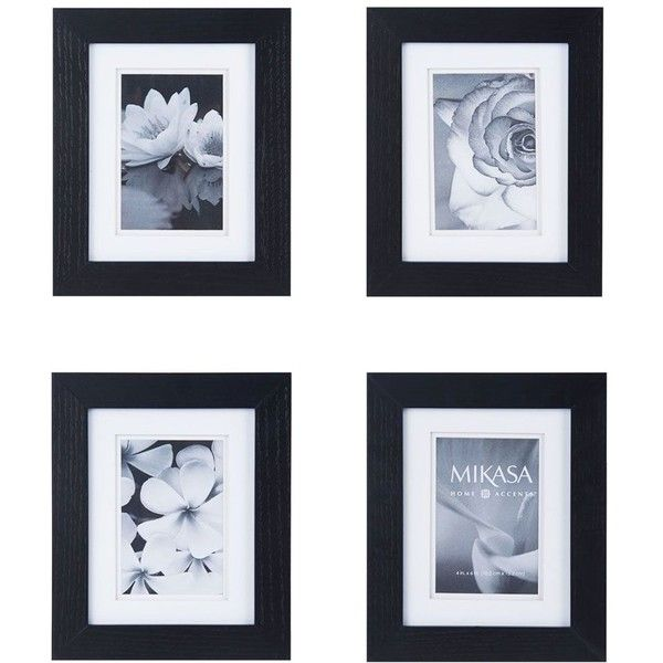 mikasa set of 4 4 x 6 black wood frames 3270 rsd liked on
