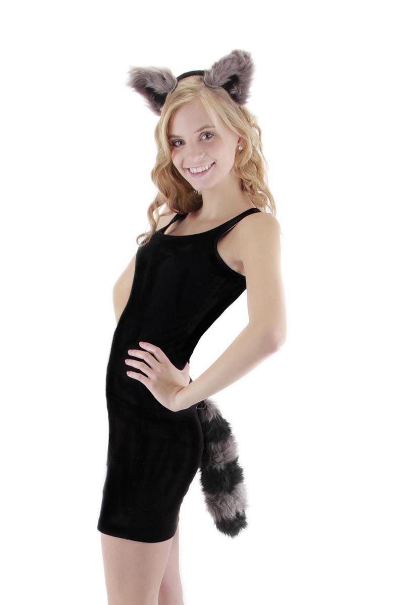 Adult Fox Headband Ears And Tail Dress Up Set Kit Animal Costume Accessory