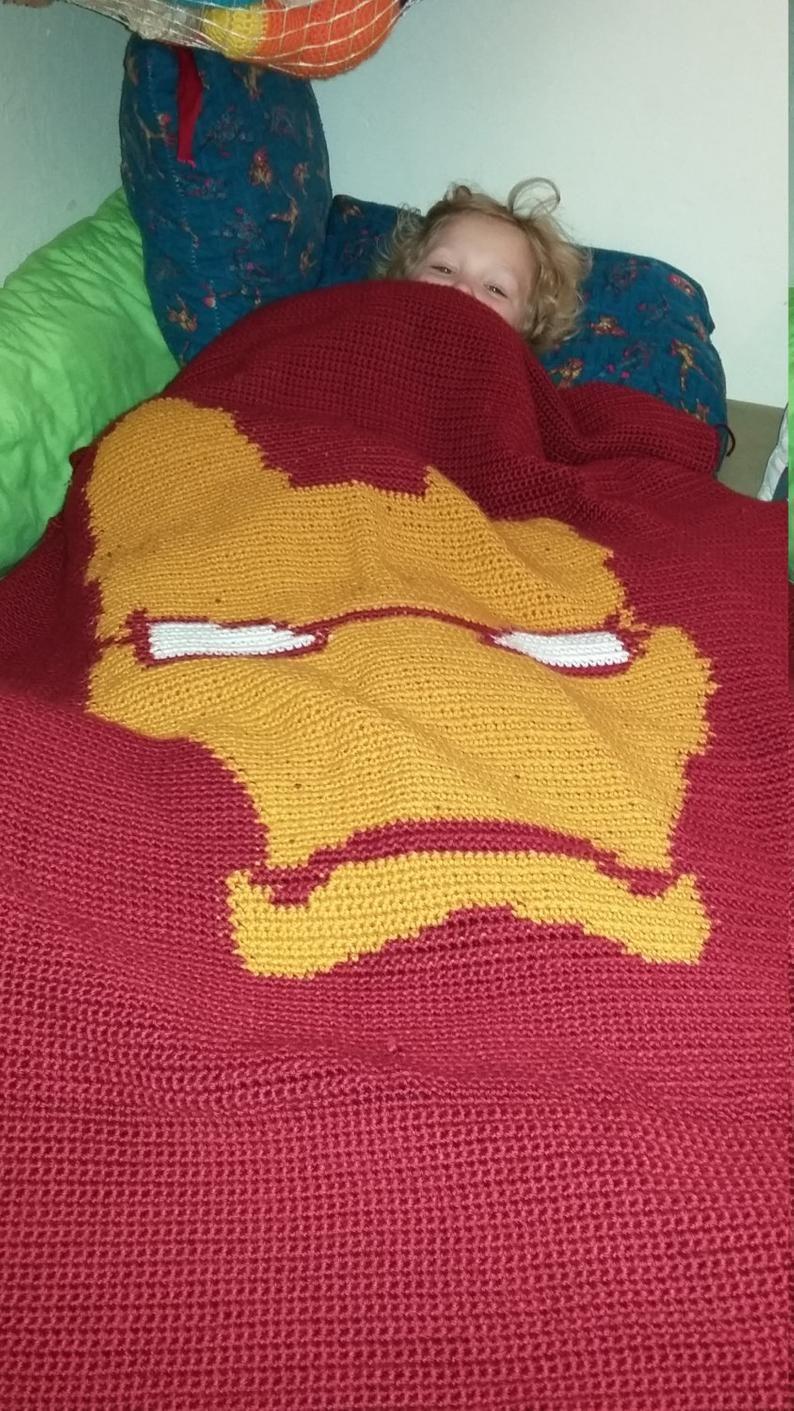 Iron Man blanket pattern   Pattern, Digital pattern, Blanket