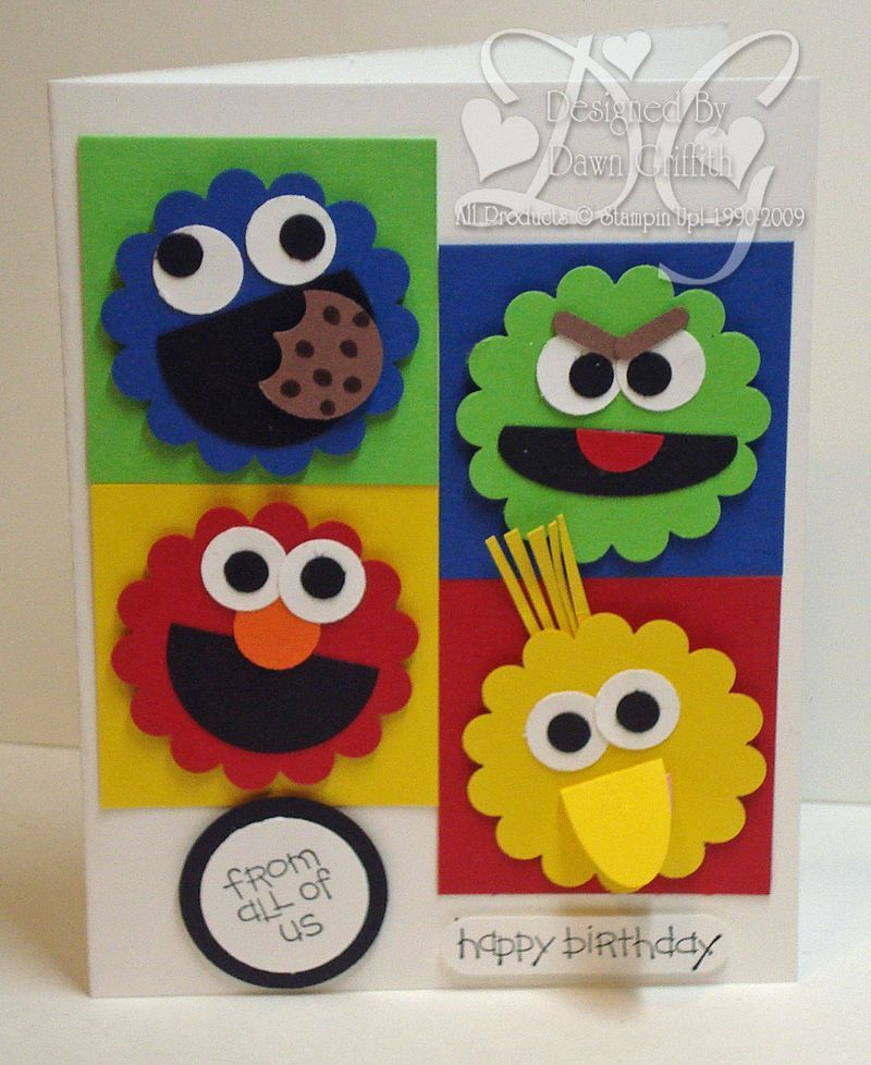 Stampin Up Birthday Cards For Kids ~ Handmade birthday card by dawn griffith colorful punch