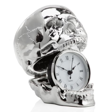 Skull Clock Clocks Accessories Decor Z Gallerie