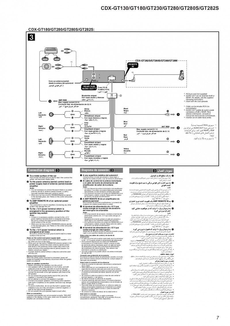 Sony Cdx Wiring Diagram Wire Center In 2020 Sony Sony Car Stereo Wire