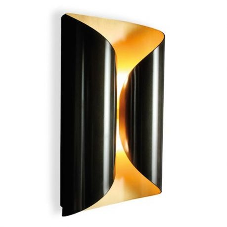 """Wall lamp - Interior in brushed steel exterior in gunmetal patinated steel - A3000B4-B Wall lamp - Interior in brushed brass exterior in bronze patinated brass 7.87"""" x 4.72"""" x 13.7"""" H Lights : 4x25W (G9)"""