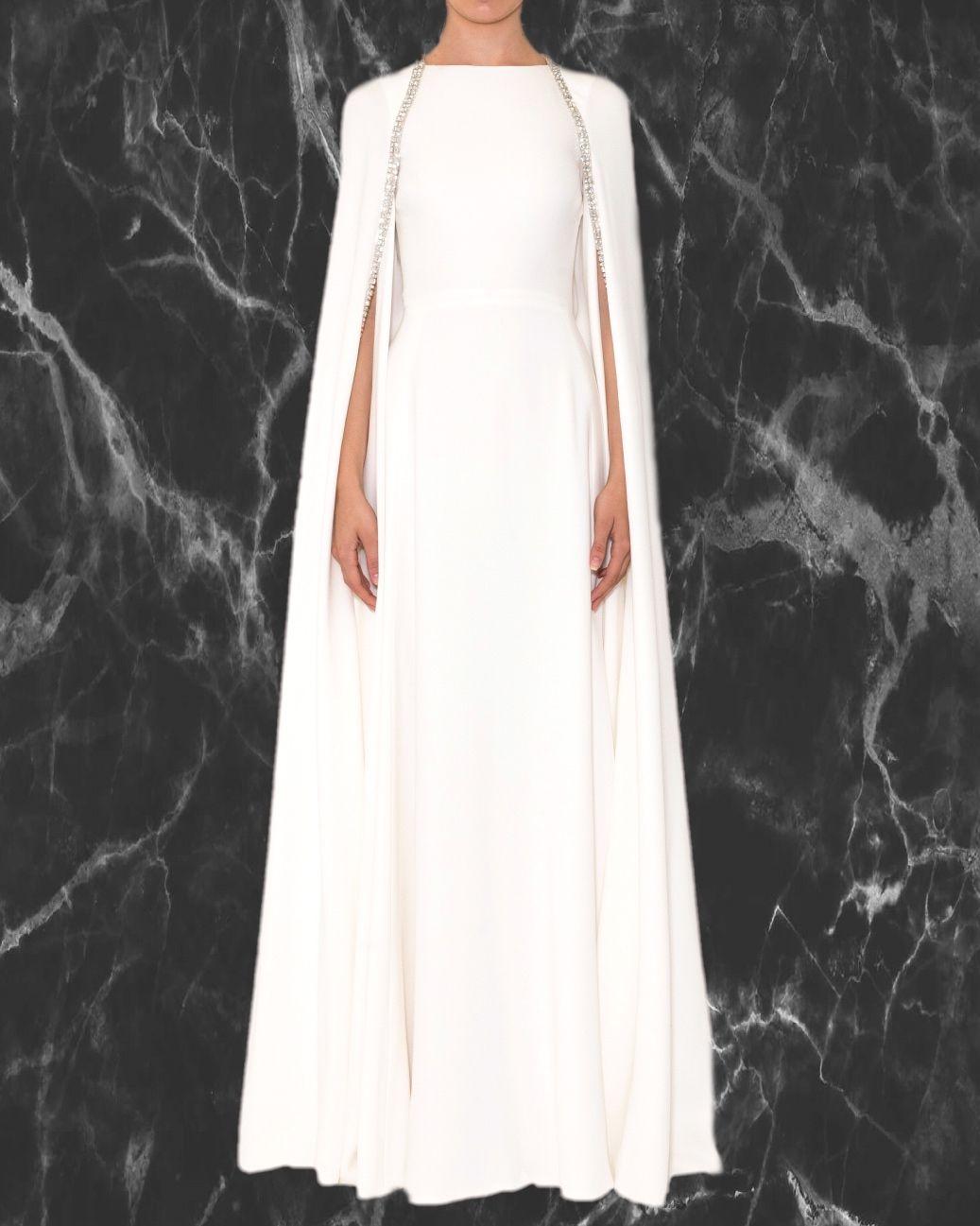 29+ Long white cape dress info
