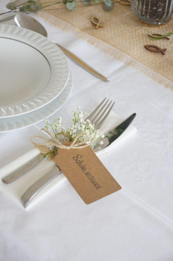 Tischdekoration Zur Konfirmation In 2020 Tischdekoration