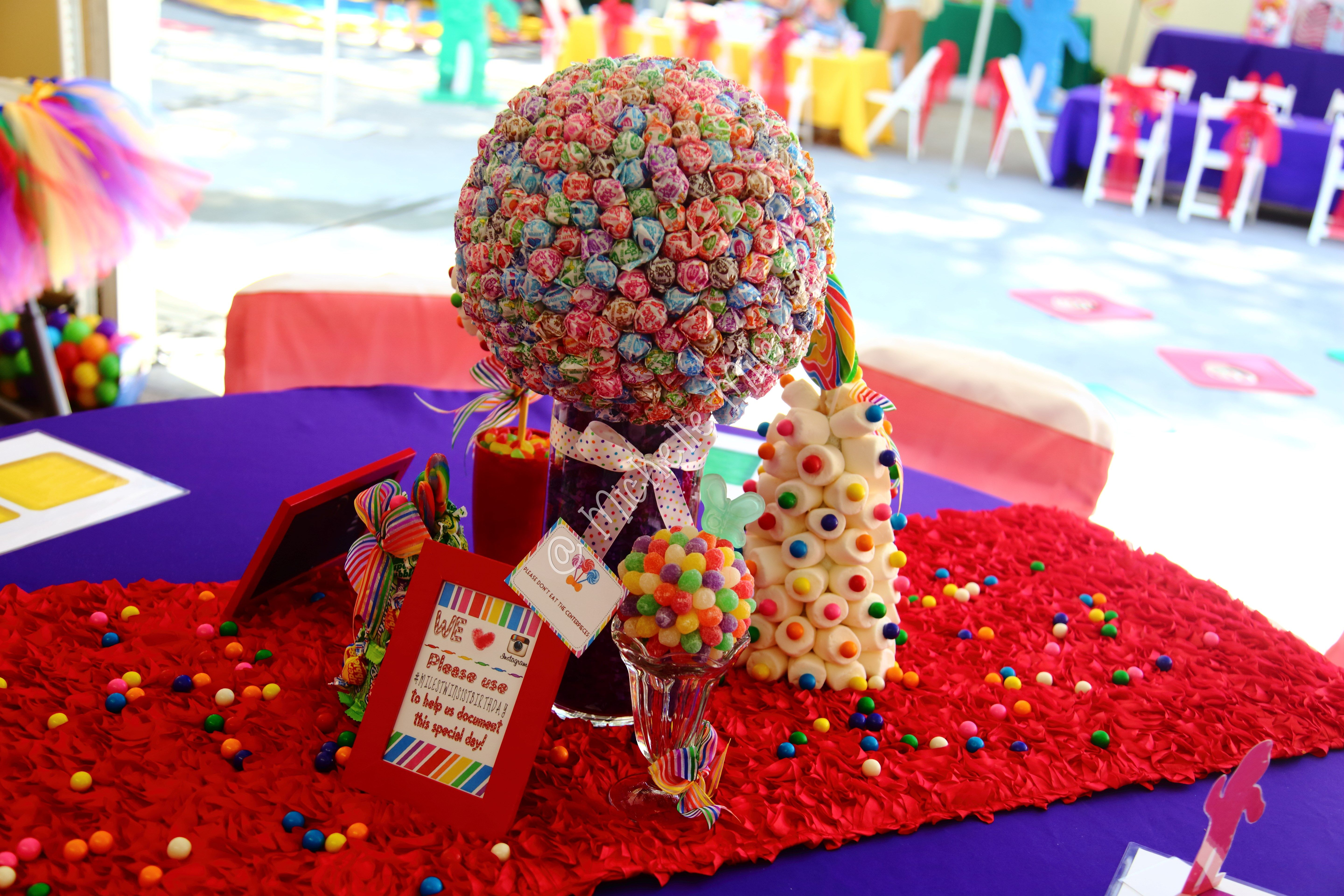 how to make candy centerpieces