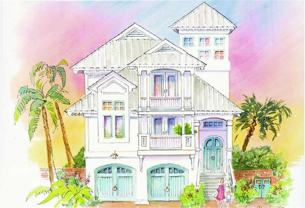 Beach house plans with lookout tower for 3 story beach house floor plans