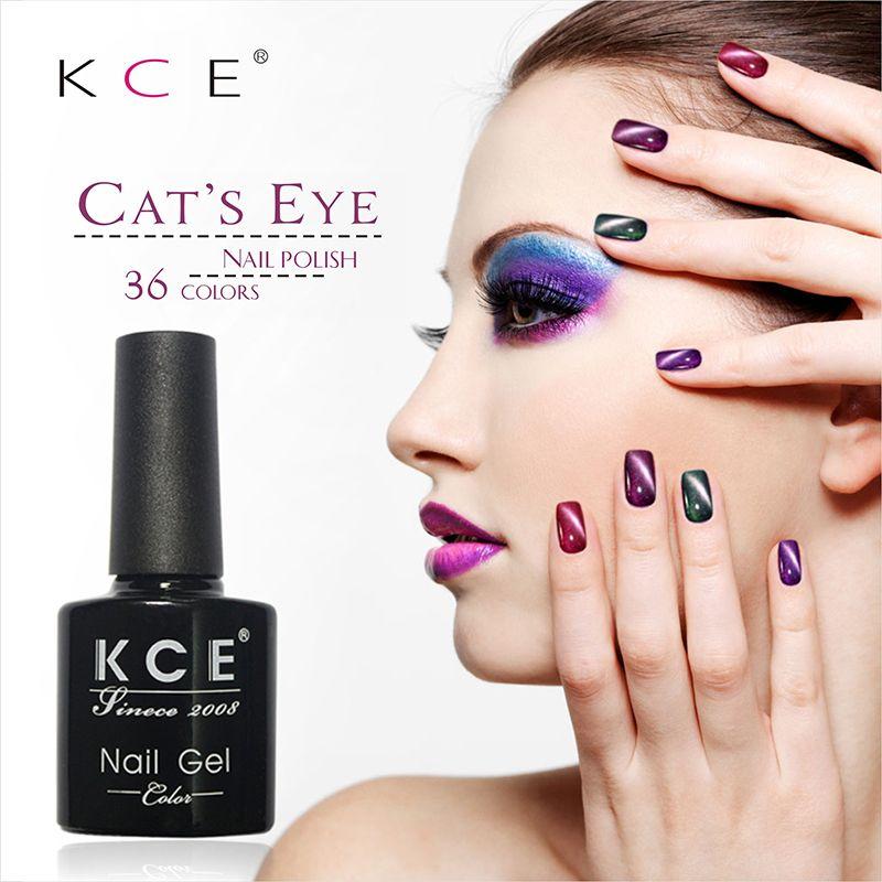 Lulaa uv esmalte de uñas de manicura llevó ojo de gato de color ...