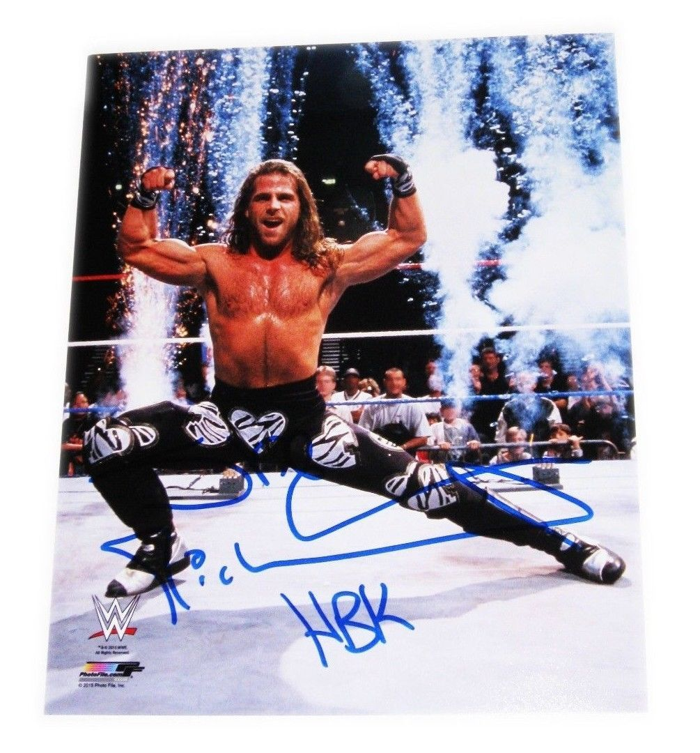 WWE SHAWN MICHAELS HBK HAND SIGNED 8X10 PHOTO FILE PHOTO WITH ...