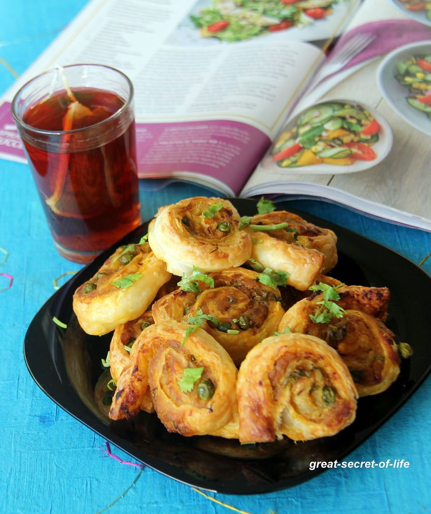 Pinwheel With Puff Pastry Masala Pinwheel With Puff Pastry