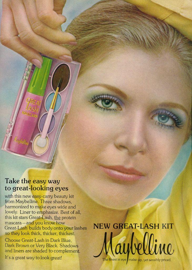 1973 Beauty Ad, Maybelline Great Lash Mascara & … Flickr