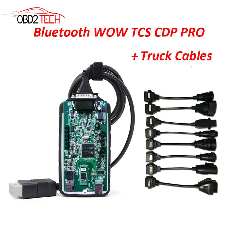 Green Pcb Wow Cdp With Bluetooth With V5 008 R2 Software Truck Cable For Cars Turcks Diagnostictool Replacement For Tcs Cdp Diagnostic Tool Trucks Cars Trucks