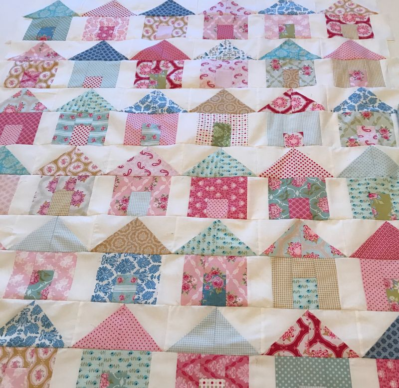 My scrap little houses quilt