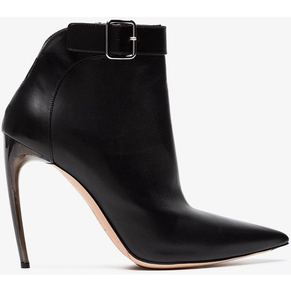 Alexander McQueen Leather Pointed-Toe Ankle Boots free shipping ebay EK7ADL6m