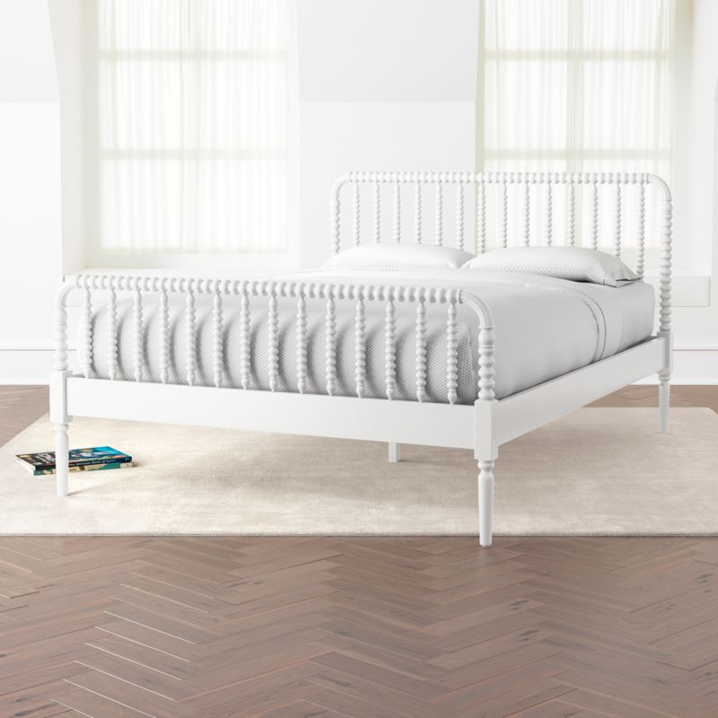 Jenny Lind White Queen Bed + Reviews Crate and Barrel