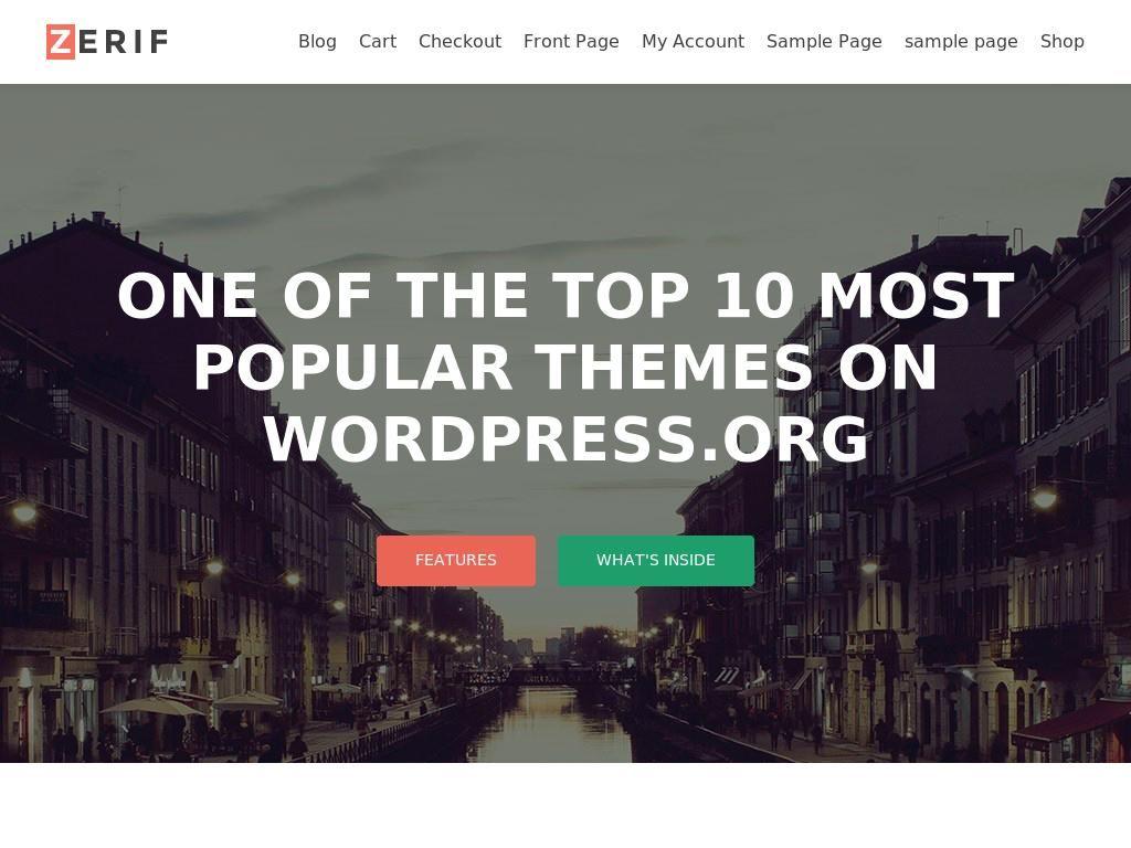 WordPress one page responsive template, бесплатный адаптивный ...