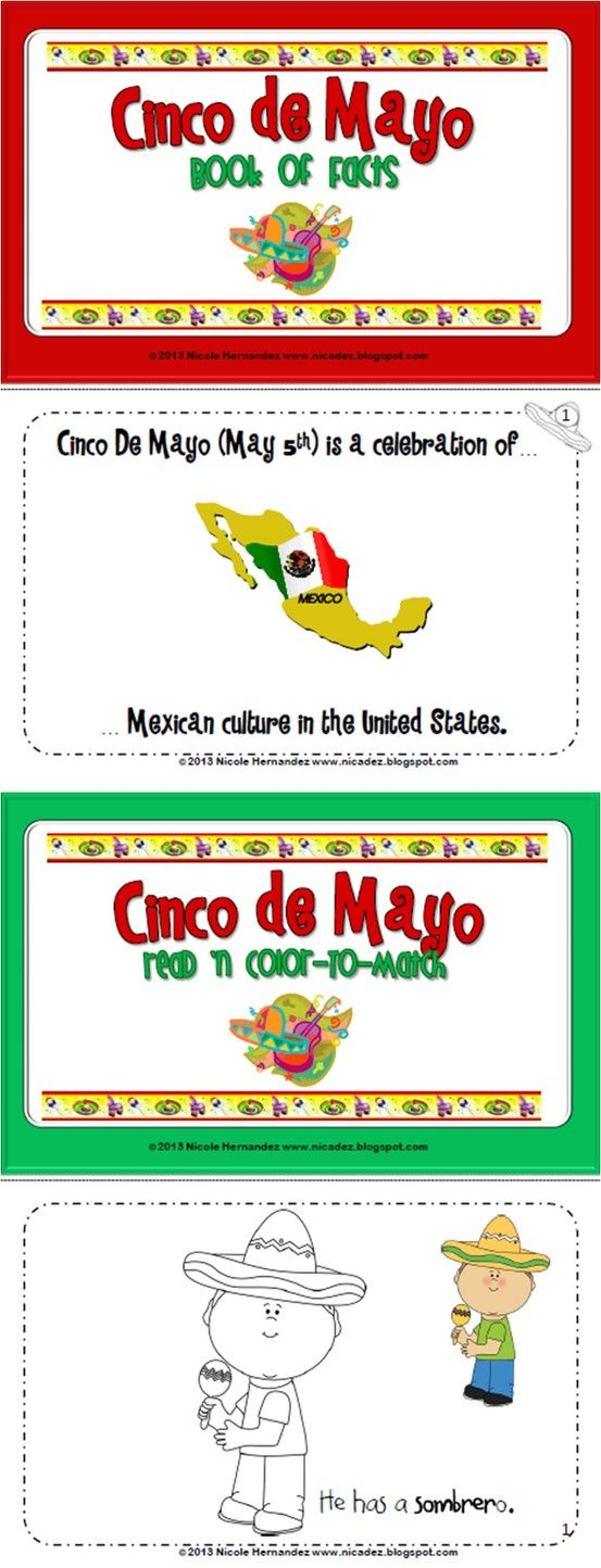 Cinco De Mayo Mini Book Kindergarten Social Studies Holiday Classroom Activities Social Studies Resources [ 1444 x 553 Pixel ]