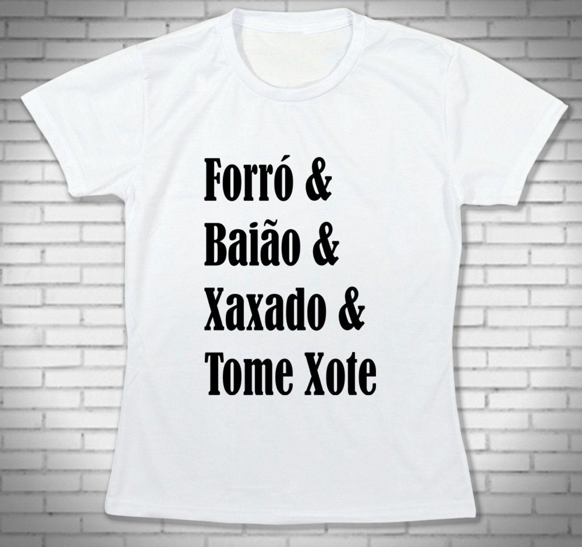 785dc71592 Camiseta Forró Baião Xaxado e Xote - Babylook Bca no Elo7