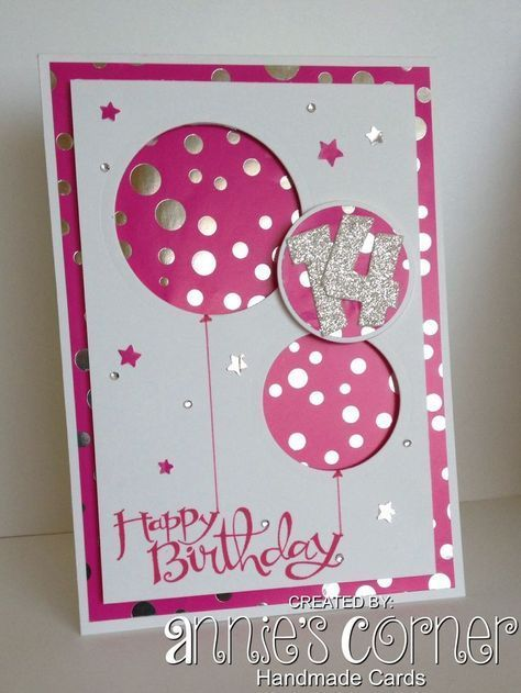 Pin By Waneeta Loomis On Cards And Craft Ideas 1st Birthday Cards