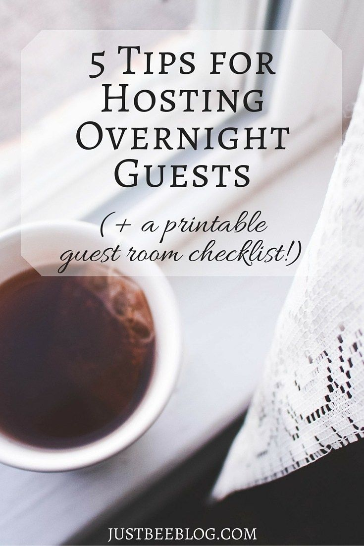 5 Tips For Hosting Overnight Guests (+ a printable guest room checklist!) images