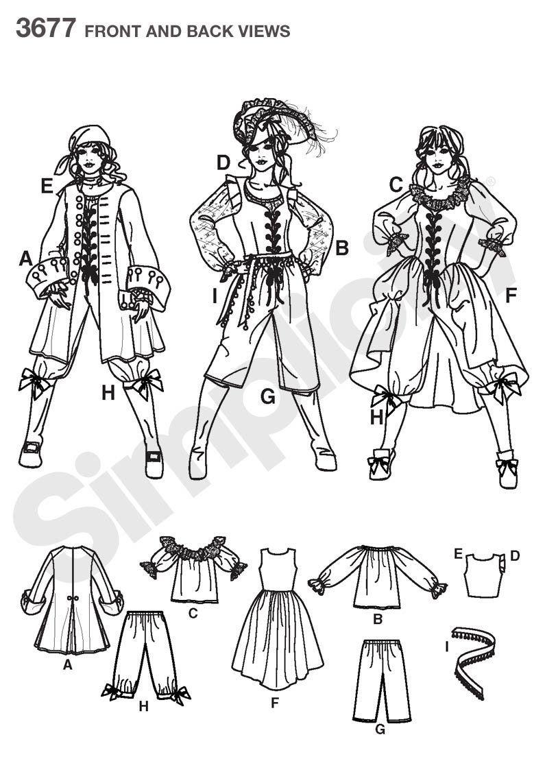 Simplicity S7080.RR Patron de Couture Costume Pirate pour Dames ...