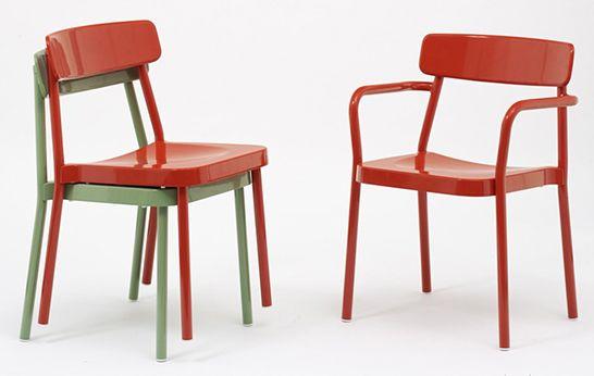 Marvelous Diecast In Lightweight Aluminum The Indoor/outdoor Grace Stacking Chair By  Samuel Wilkinson For Italian