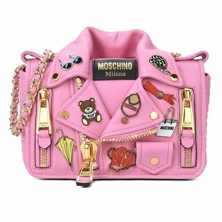 8218cd9b6 Moschino | Pink leather jacket shoulder bag #HerrenModeBeute #jacket # leather #moschino #