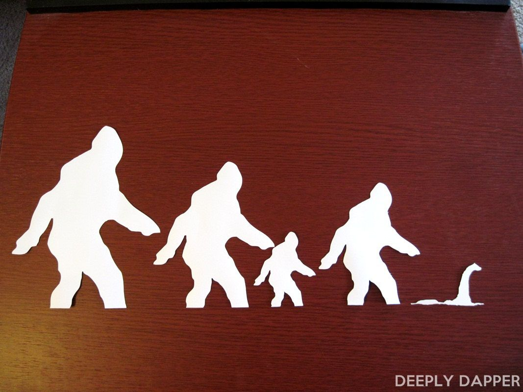 Sasquatch Clan Car Stickers Bigfoot Family Auto Decal Four - Family car sticker decalsbest silhouette for the car images on pinterest family car