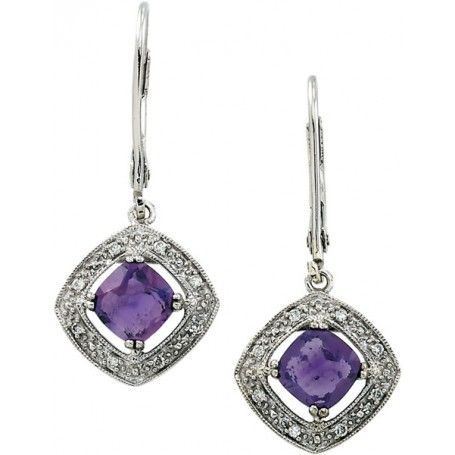 Genuine Amethyst #Earrings