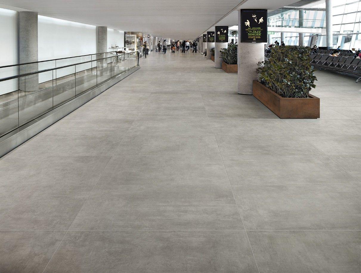 Cement & concrete effect porcelain tiles Condo design