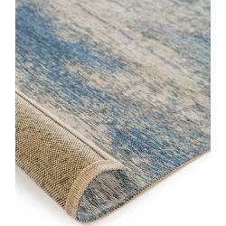 Photo of benuta flacher gewebter teppich Tosca beige / blau 75×165 cm – vintage teppich im gebrauchten look benuta