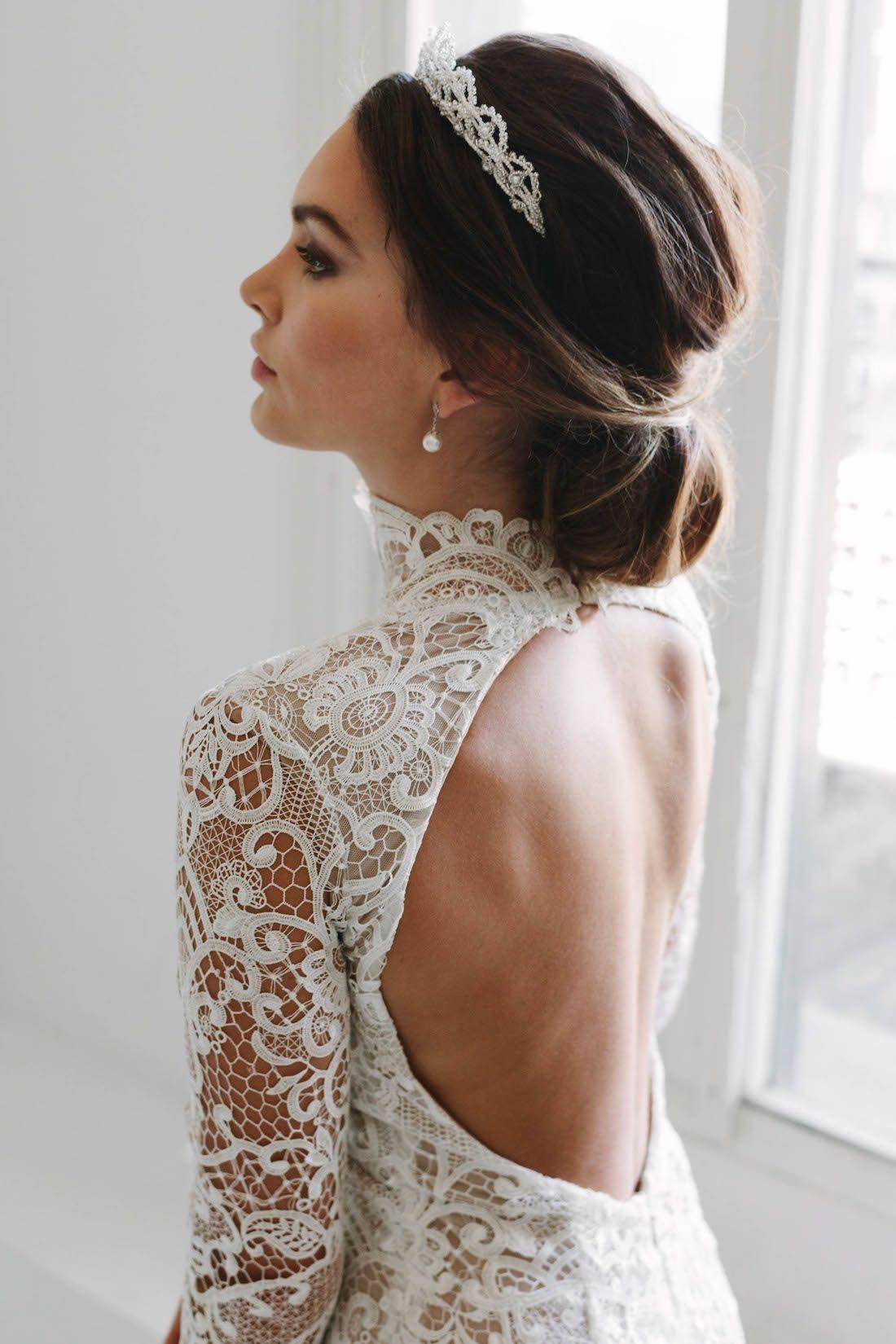 CHANTILLY ivory wedding crown 5
