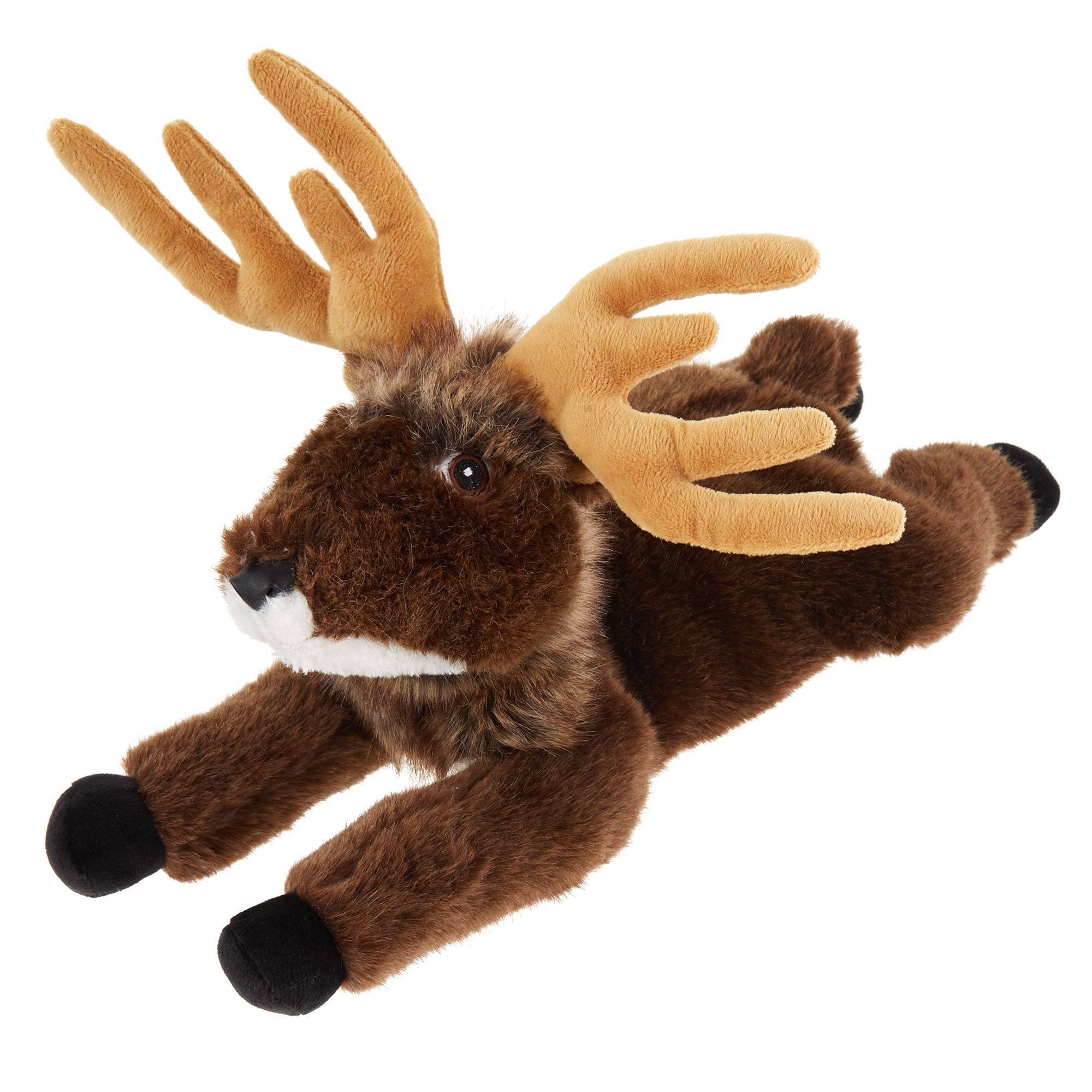 Top Paw Realistic Deer Dog Toy Plush Squeaker Brown Light