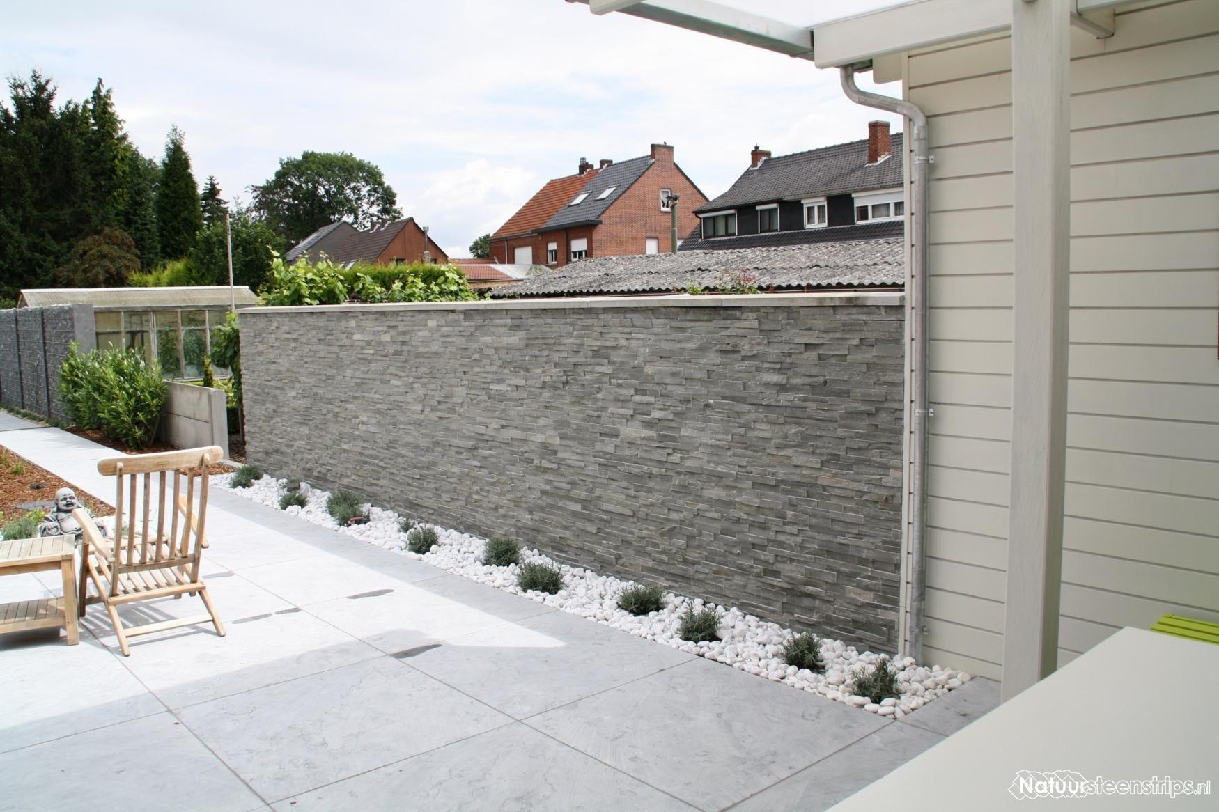 Natuursteenstrips Woonkamer. | Ideeën voor het huis | Pinterest