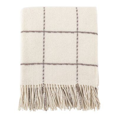 Eider Ivory Manchester Geometric Wool Throw Color Ivory In 2020 Geometric Throws Blanket Knitted Throws