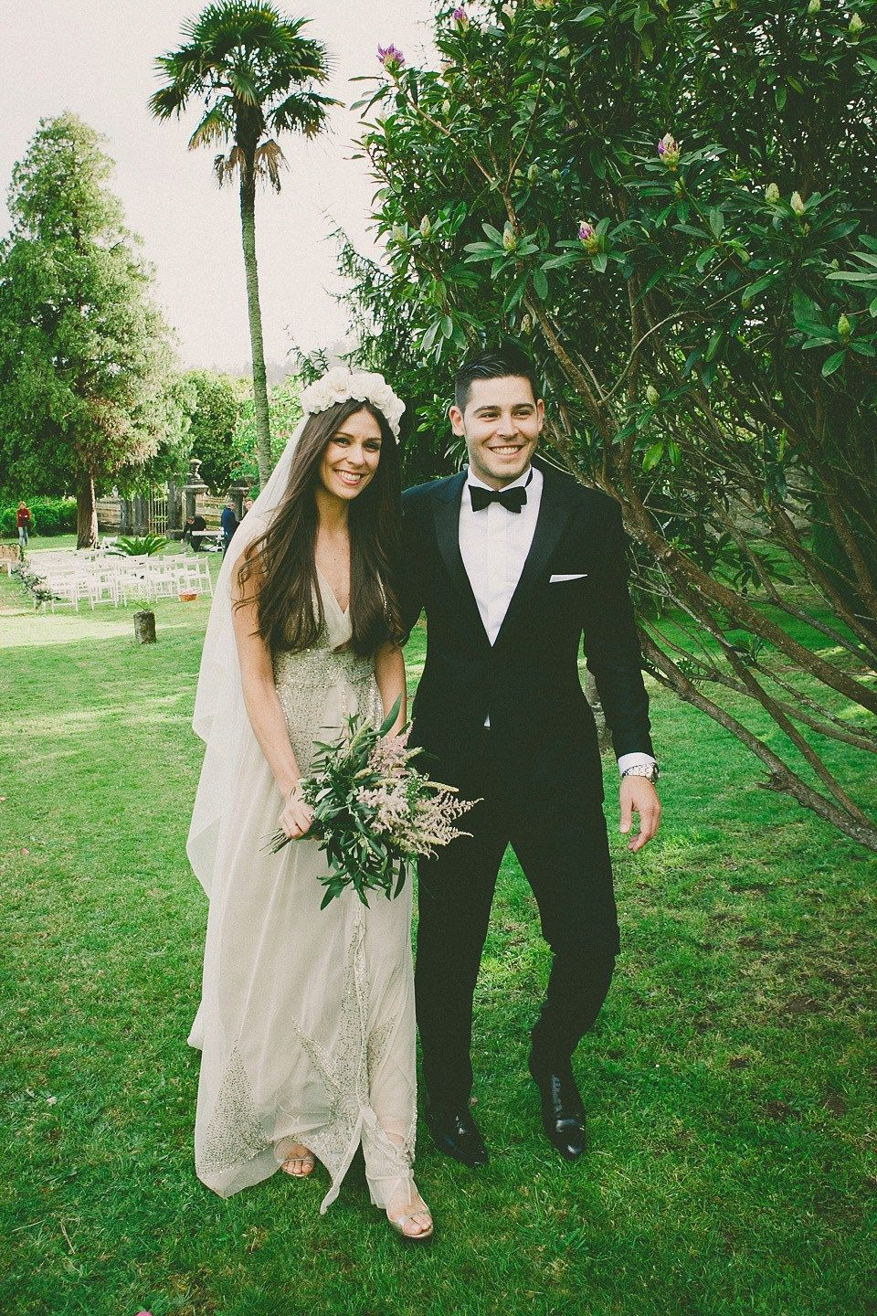 A bhldn dress for a pink and gold boho luxe wedding in spain bhldn