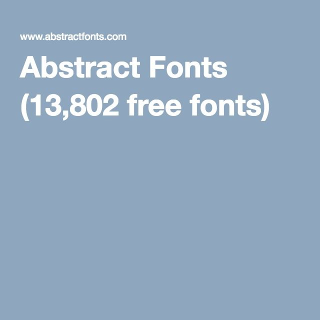 abstract fonts 13802 free fonts