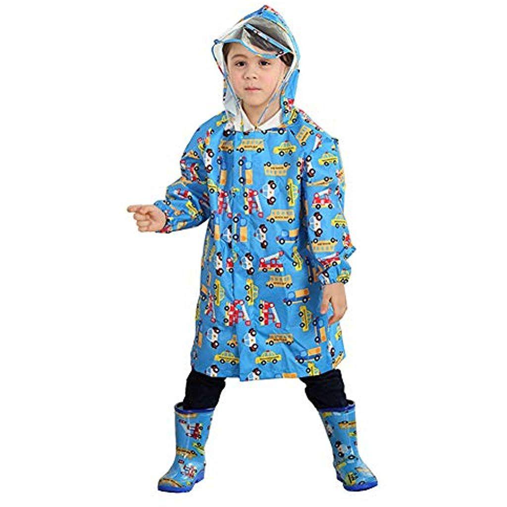 e102862097658 Enfants Imperméable imprimé Veste imperméable garçons Filles Pluie Poncho à  Capuche avec Conception de Sac #