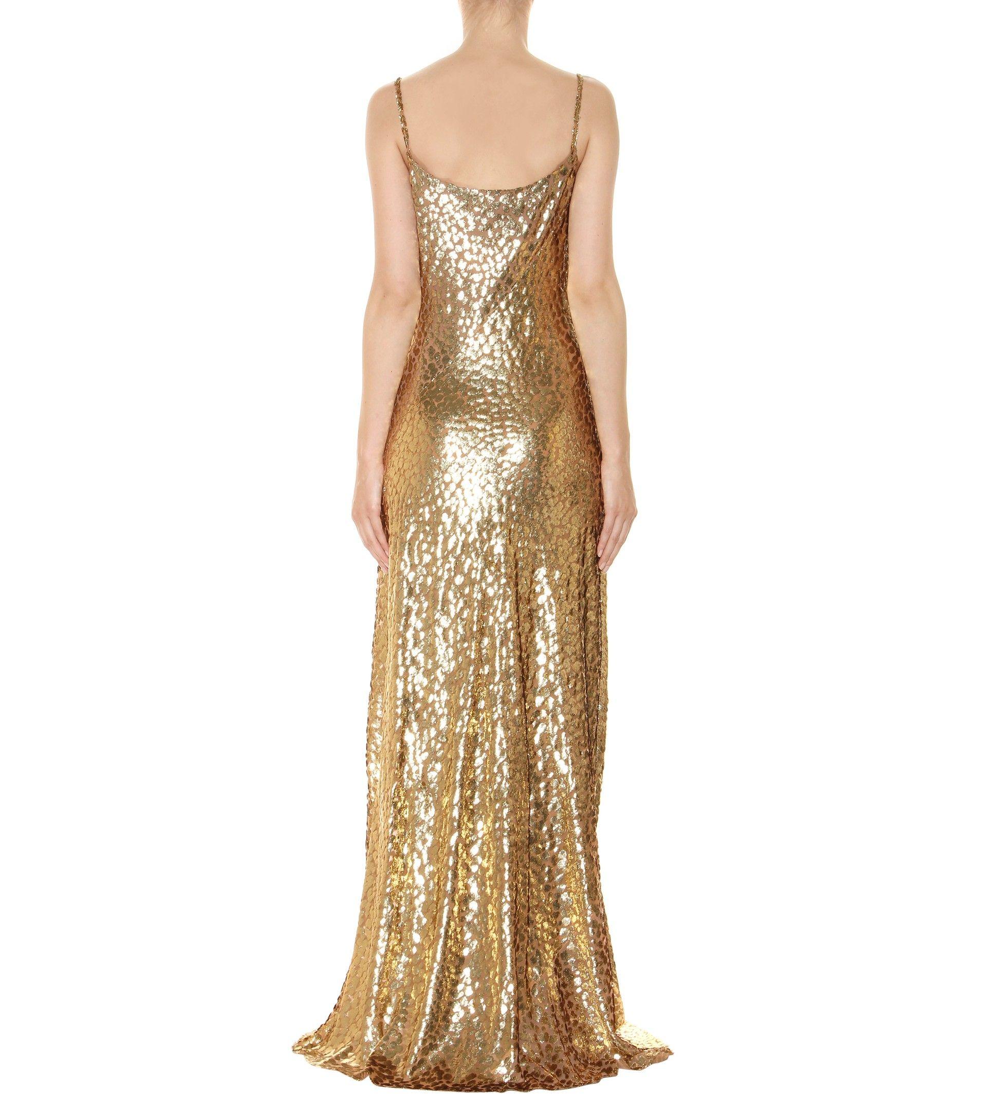 mytheresa.com - Metallic fil coupé dress - Luxury Fashion for Women / Designer clothing, shoes, bags