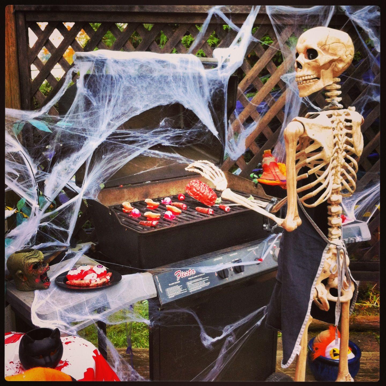 Breakfast anyone ?? BBQ bones body parts halloween party spooky ...