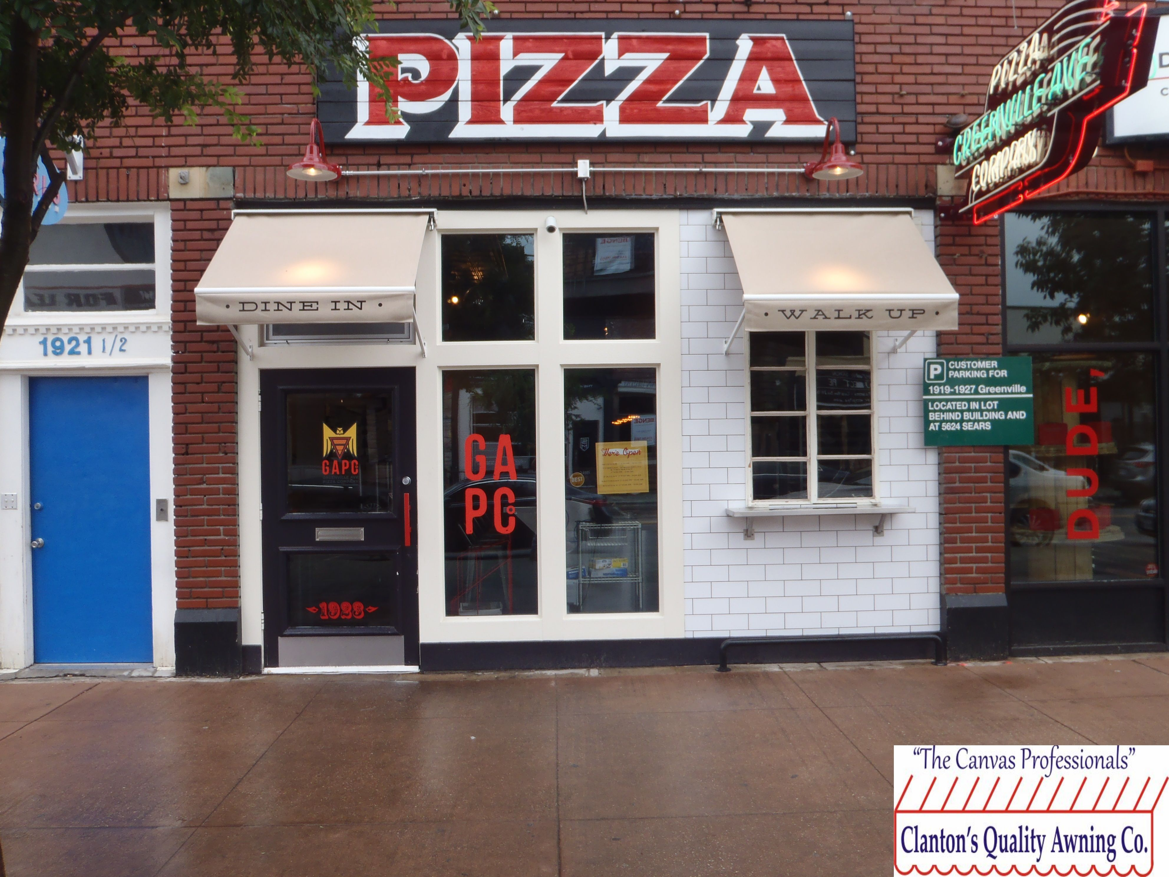 Commercial Awnings Over Store Front Window And Door ...