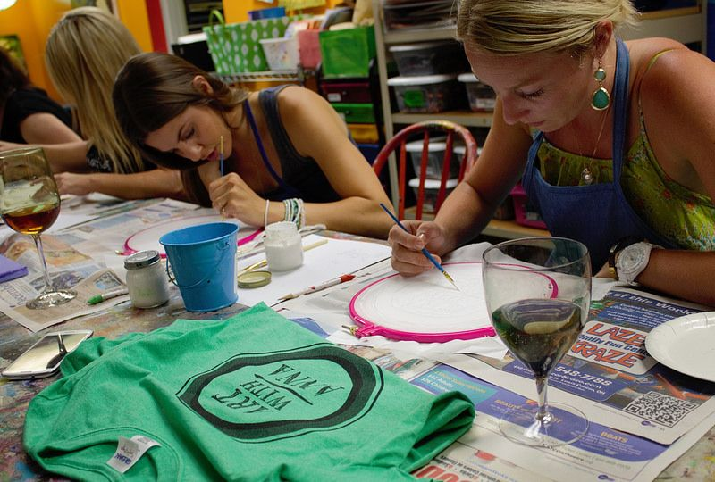 Art With Anna BlogSpot: Wine Your Art Out: We Learned the Art of Screen Pr...