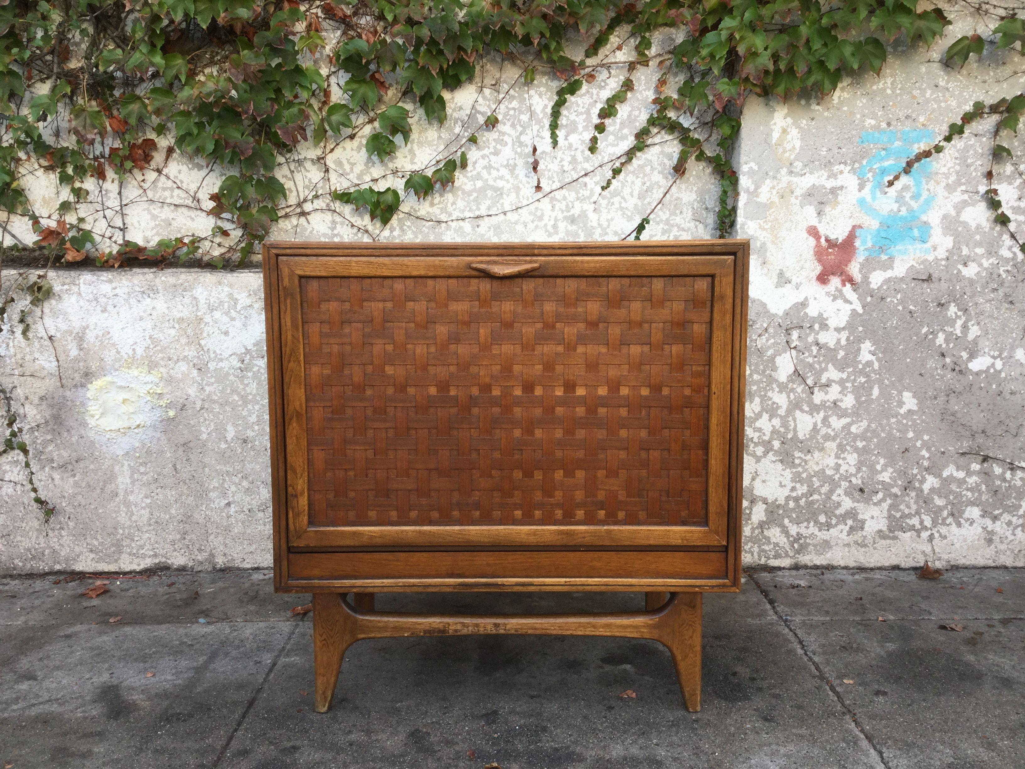 Vintage Lane Perception Record Cabinet Storage